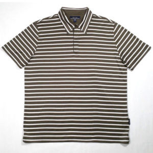 FACONNABLE Men Polo Shirt Green Striped 1298E2